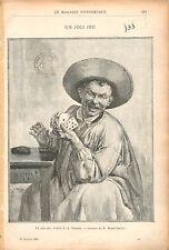Joli jeu de Cartes Louis-Adolphe Tessier Peintre GRAVURE ANTIQUE OLD PRINT 1905