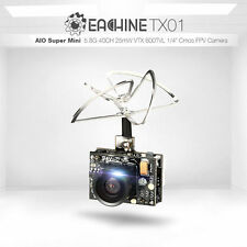 Eachine TX01 NTSC SUPER MINI AIO 5.8G 40CH 25MW VTX 600TVL 1/4 CMOS Telecamera FPV