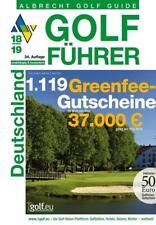 Albrecht Golf Führer Deutschland 18/19 inklusive Gutscheinbuch von Oliver Albrecht (2017, Gebundene Ausgabe)