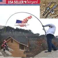 Portable Fishing Rod Ultralight Carbon Fiber Pole Telescopic Sea Spinning Pole