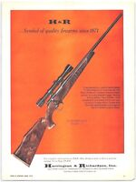 1970's H&R Rifles Ultra WildCat Model 317 Vintage Print Ad