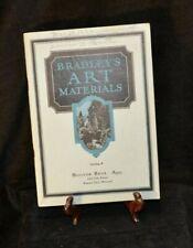 Antique Catalog 1923 Bradley Art Materials B. Hoover Bros. Kansas City Missouri