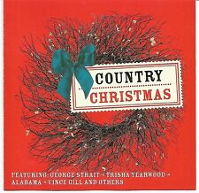 Country Christmas Holiday Party Music CD George Strait, Trisha Yearwood, Alabama