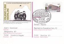 West Berlin 1987 Sindelfingen Modern Architecture FDC Postcard Unused VGC