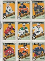 2019-20 O PEE CHEE RETRO  MARQUEE ROOKIE 17 DIFFERENTS CARDS  LOT 69      a