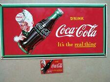 Emailleschild Coca Cola 21 x 41 cm