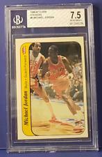 1986 Fleer MICHAEL JORDAN Sticker #8 BGS 7.5 Rookie RC NM+ Bulls (xplor_sports)