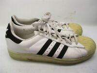 ADIDAS Sneakers Men's Size 11 Low Top SHELL TOE Classic White/Black Leather