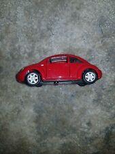 "Maisto Volkswagen New Beetle Diecast Car. 1:37 scale in Silver 4.5"" (Playworn)"
