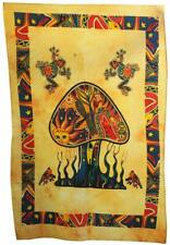 Psychedelic Mushroom Tapestry Frogs Magic Shrooms Tapestry Dorm Tapestry Poster