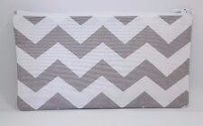 Grey & White Chevron Fabric Handmade Pencil Case Make Up Bag Storage Pouch