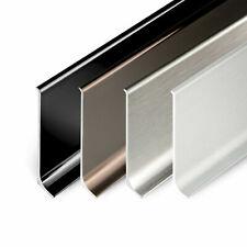 Sockelleisten aus Aluminium Bodenleisten 4 Farben Fussleiste Leisten Alu Sockel