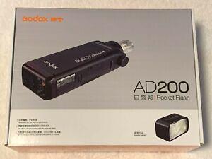 Godox AD200 TTL 2.4G Pocket Flash TESTED Nikon Canon Sony Fuji Olympus NO RES