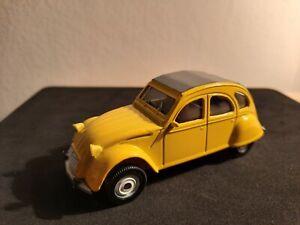 CITROEN 2 CV Giallo modellino auto vintage 1/43