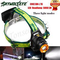5000LM CREE XM-L XML T6 LED Headlamp Headlight flashlight head light lamp 18650