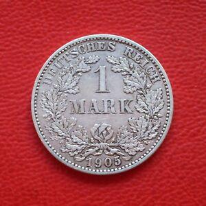 1 Mark 1905 G ss / SILBER / Kaiserreich / Deutsches Reich / KM#14 J#17