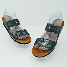 Naot Black Jeweled Double Strap Sandals Size EUR 39 US L8 Narrow