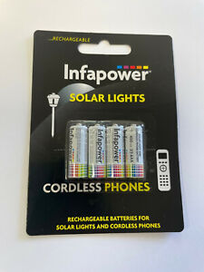 T011 Infapower brand 4 x rechargeable 2/3AAA Ni-Mh batteries for solar lights