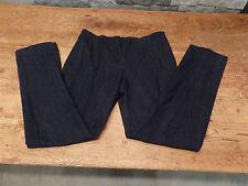 Carolina Herrera Pin Tuck Pant Indigo Blue Pleated 4063EPA Size 6 NWT $790