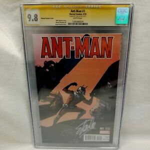 SIGNED STAN LEE ANT-man 1 CGC 9.8 SS PEARSON VARIANT AVENGERS Spider-man