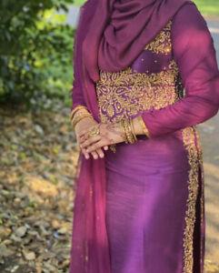 Maria B asian indian pakistani wedding dress Long Salwar Kameez Party Suit Eid