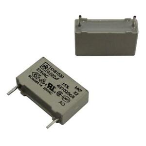 20x MKP Foil Capacitor Radial 0,022µF 275V AC Iskra KNB1530U0225%275VL4 22nF