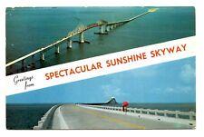 Spectacular Sunshine Skyway Florida Postcard 15 Mile Bridge Pinellas Manatee