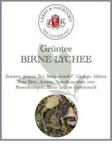 Green Tea Bir-Lyche 2 KG Birnenwürfel Ginkgo Leaves Spirulina Powder