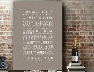 Pogues Love You Till The End Inspired Lyrics PRINT | CANVAS GIFT