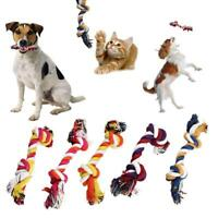 Dog Chew Toys Play Puppy Knot Fun Tough Strong Throw Pet Tug War Fetch Ropes*