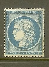 "FRANCE STAMP TIMBRE N° 60A "" CERES 20c BLEU TYPE I 1871 "" NEUF x TB"