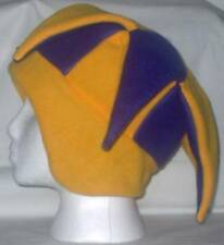 NEW fleece jester snowboard hat- purple and gold