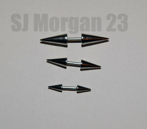 Double Spike Stainless Steel Body Piercing. Choice of Size. 1mm x 5mm bar
