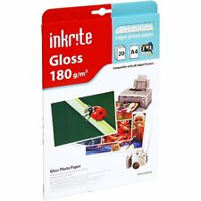 INKRITE PROFESSIONAL PHOTO PAPER GLOSS FINISH 180GSM / A4 / 20 SHEETS