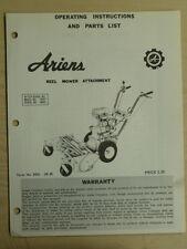 Ariens Reel Mower Attachment Model No. 10973 Operating Parts List Manual Reel 68