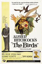 The birds Alfred Hitchcock 1963 cult horror movie poster print
