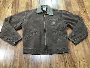MENS MEDIUM - Vtg Carhartt J97 Sandstone Blanket Quilt Lined Detroit Jacket USA