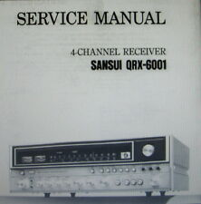 Sansui QRX-6001 4 channel receiver service manual inc schémas imprimé anglais