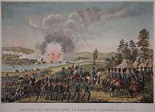 Völkerschlacht bei Leipzig 1813 - Rückzug Napoleons -Kupferstich Pigeot / Couche