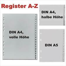 LEITZ Tauenpapier Register A-Z für 4 Ordner grau 60-teilig DIN A4 Überbreite