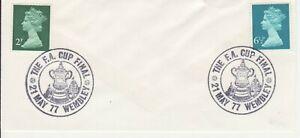 GB Stamps Souvenir Postmark Football, FA Cup Final, Wembley, sport, trophy 1977