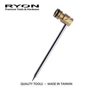 "12x Brass Irrigation Sprinkler Lawn Fencing Angle Spike 1/2"" Half-Moon HD"