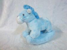 """2005 Ty Blue Rocking Horse 7"""" Plush Soft Toy Stuffed Animal"""
