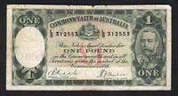 Australia R-28. (1933) One Pound.. Riddle/Sheehan. Legal Tender Issue.  Fine