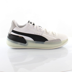 Puma Clyde Hardwood White Lace Up Mens Trainers Basketball Shoes 193663 01