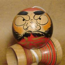 Traditional Kokeshi KENDAMA DARUMA Cup and Ball Bilboquet 5.9inch JAPAN NEW