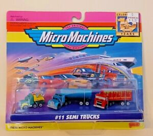 1996 MICRO MACHINES #11 SEMI TRUCKS FACTORY SEALED NEVER OPENED NEW OLD STOCK