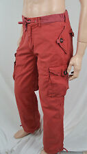 POLO RALPH LAUREN RED CARGO PANTS POCKETS BEACH CRUISE SUMMER NWT L LARGE