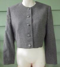 PENDLETON CROPPED PURE VIRGIN WOOL JACKET BLAZER Women's 12 Petite GRAY Vintage