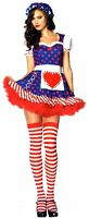 Leg Avenue Darling Dollie Sexy Halloween Costume Cosplay Dress Bonnet S M 83777